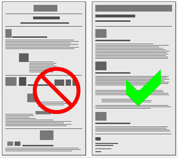 Layout do's and don'ts