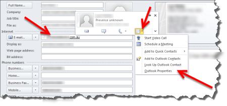 outlook2010_contact_email