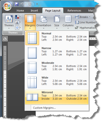 Word Set Up Pages For Printing