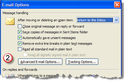 Advanced E-mail Options
