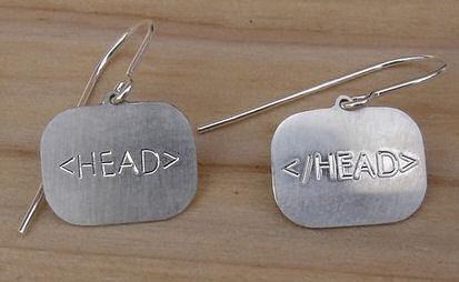 HTML tag earrings