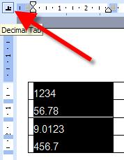 Decimal tab icon