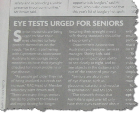 Eye test article