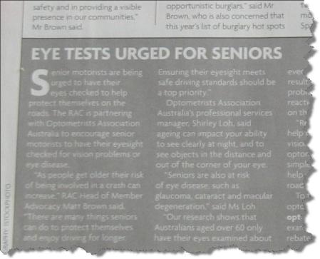 Eye test article
