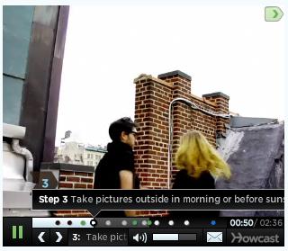 Screen shot of a Howcast video frame