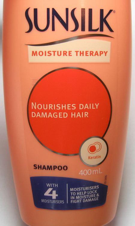 Front of shampoo bottle