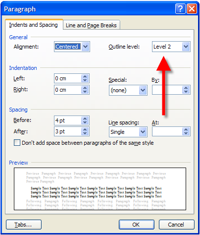 how to make an outline in word 2007