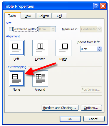 Word: Header row won't repeat | CyberText Newsletter