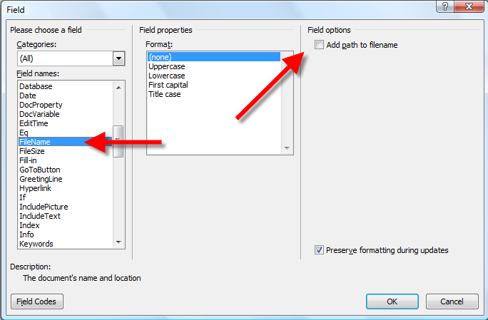 How to add footer to word document