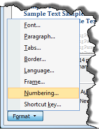 Word 2007: Create a numbered Appendix heading style