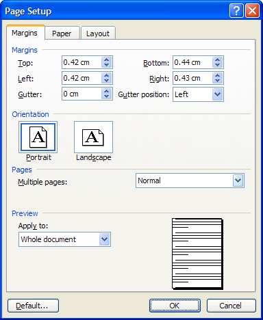 Word How To Find Out Your Printers Printable Area