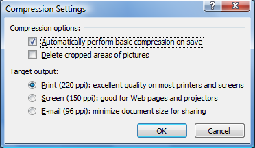 Word: Reduce large image sizes with picture compression