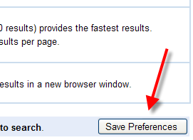 Save Preferences button