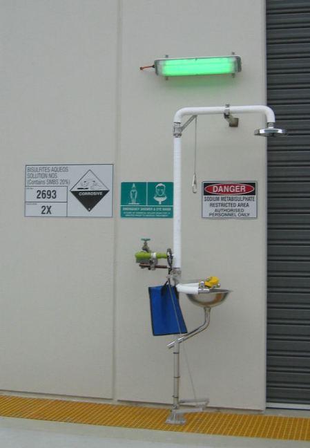 Chemical wash station