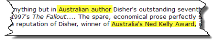 Disher is an Australian author who has won Australian awards