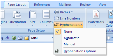 Word: Turn off automatic hyphenation   CyberText Newsletter