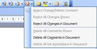 Delete all comments in Word 2003
