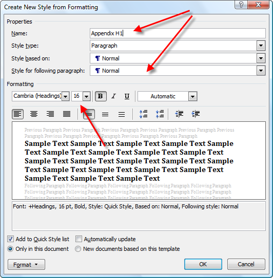 Add different page numbers or number formats to different sections ...