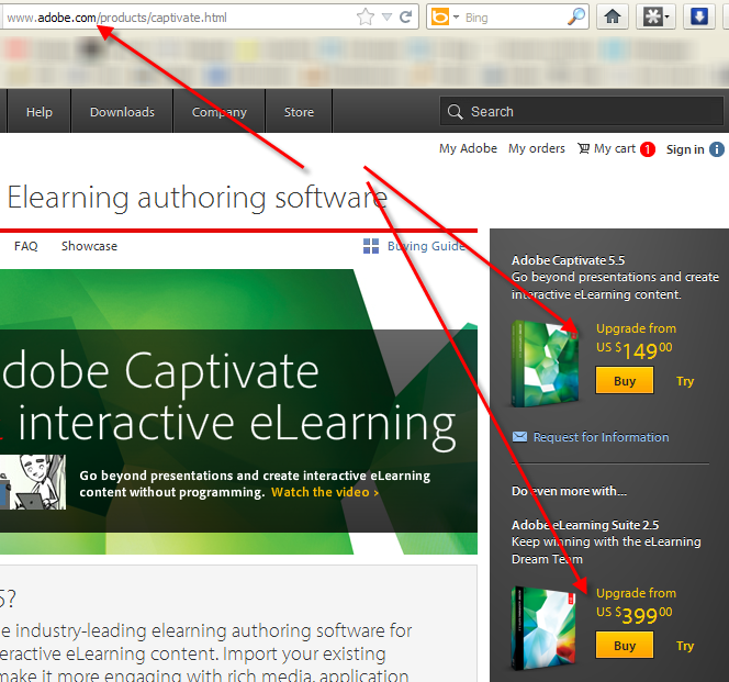 Adobe cybertext newsletter us prices for upgrading captivate and the elearning suite fandeluxe Images