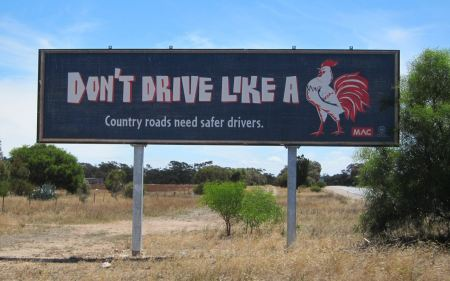Don't drive like a cock