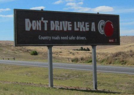 Don't drive like a knob