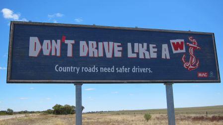 Don't drive like a wanker
