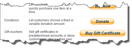 The only information on the use of the Donate button I could find
