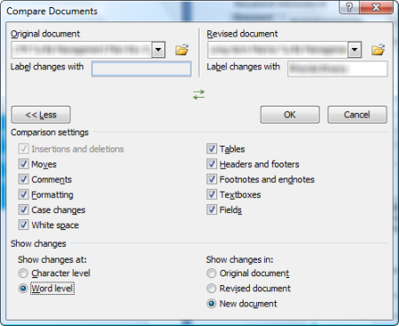 Word: Compare documents not working | CyberText Newsletter