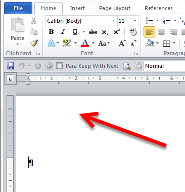 how to put a line above the footer in word