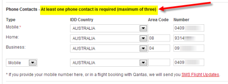 01. Qantas phone number