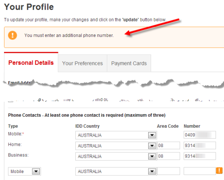 05. Qantas phone number