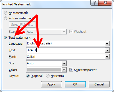 Word: Add a watermark to all sections at once | CyberText Newsletter