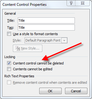 Word: Deleting a locked content control | CyberText Newsletter