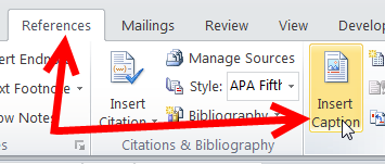 How To Change Caption Numbering In Word 6