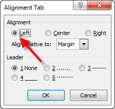 Word auto aligning header footer info in portrait and for Table th left align