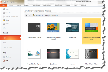 powerpoint: apply a template | cybertext newsletter, Presentation templates