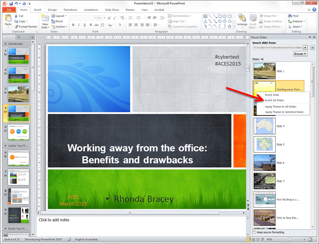 powerpoint: apply a template | cybertext newsletter, Modern powerpoint