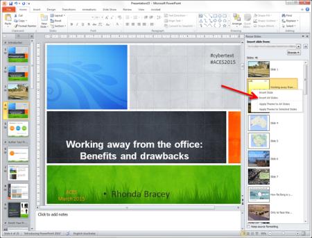 powerpoint: apply a template | cybertext newsletter, Modern powerpoint