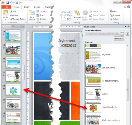 apply design template powerpoint 2010