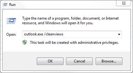 Outlook: Lost the preview pane and minimized to the title