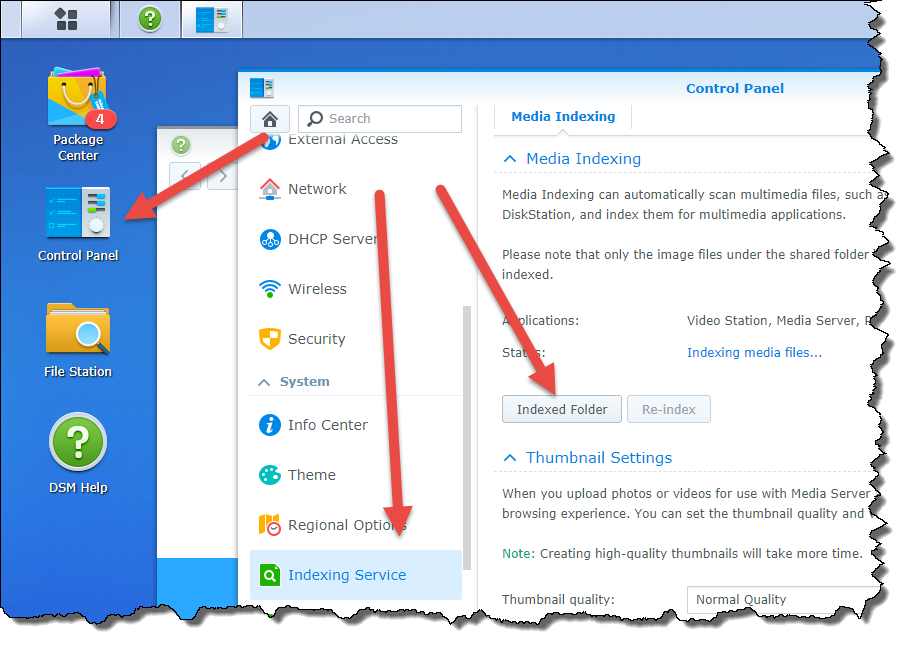 Synology NAS: Change file path for DLNA access | CyberText