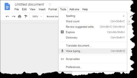 Google Docs: Speech to text function | CyberText Newsletter