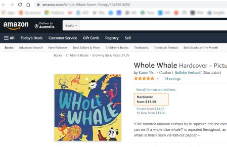 Amazon.com's price for Whole Whale hardbaok book is US$13.59